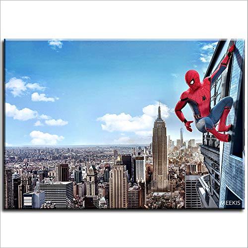 CELLYONE Novice Starter Kit para pintura digital DIY para adultos (Spiderman) Regalo 50 x 40 cm