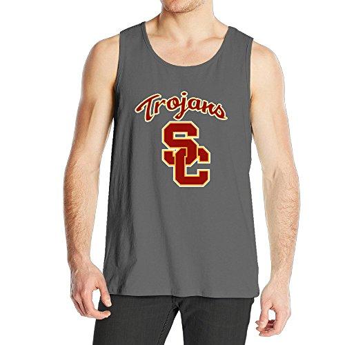 stuaotoメンズUSC Trojans Los Angeles CAスポーツチームロゴタンクトップ