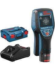 Bosch Professional System 12 V firmy detektor D-tect 120 (12 V, maks. maks. głęb. detekcji rury plast./belki drewn./przewody pod napięciem/metale magn./metale niemagn.: 60/38/60/120/120 mm, L-BOXX)