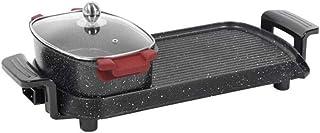 DYXYH Control eléctrico doble recipiente for hornear Hot Pot barbacoa Inicio Maifan Piedra eléctrica sartén Separado Horno eléctrico