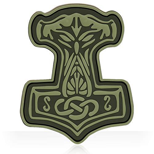 M-Tac Mjolnir Viking 3D PVC Morale Patches & Tactical Army Morale Patch (Olive)
