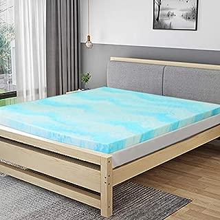 POLAR SLEEP Mattress Topper Queen, 3 Inch Gel Swirl Memory Foam Mattress Topper with Ventilated Design CertiPUR-US Certified - Queen