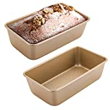 Yopay 2 Pack Loaf Pans, 9 x 5Inch Rectangle Nonstick Bread Pan, Carbon Steel Oblong Bread and Meat...