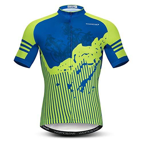 Weimostar - Camiseta de ciclismo para hombre, manga corta, diseño 3D, Hombre, CD8265, Chest32.3-35.4'=Tag S
