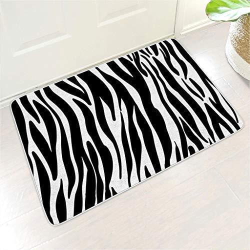 Veryday Zerbino in gomma zebrata per porta di casa, per soggiorno, bianco, 45 x 75 cm