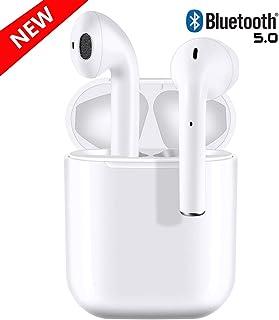 I12-AuAuricular Bluetooth 5.0, Auricular inalámbrico, micrófono y Caja de Carga incorporados, reducción del Ruido estéreo 3D HD, para Auriculares Apple Airpods Android/iPhone/Samsung