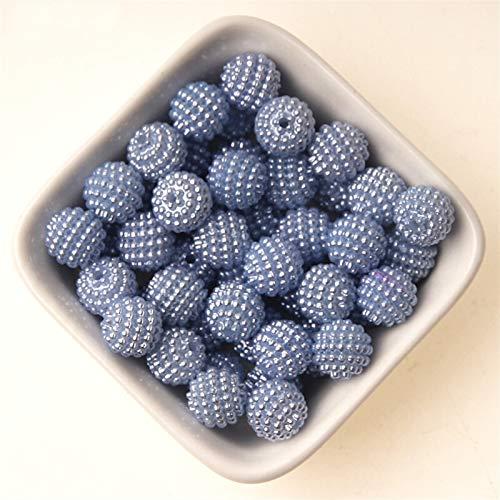 Xuping shop 100 cuentas de 10 mm de colores mixtos de Bayberry perlas de imitación acrílicas para cuentas europeas para hacer joyas y collares (color: gris)