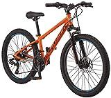 Schwinn High Timber ALX Youth/Adult Mountain Bike, Aluminum Frame and Disc Brakes, 24-Inch Wheels, 21-Speed, Orange