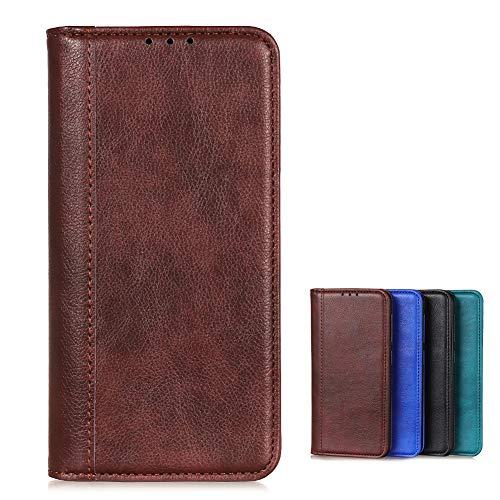 Brieftasche Schutzhülle für Vivo NEX 3S 5G Hülle mit Kartenfach Etui Standfunktion & Magnetisch Handyhülle Leder Flip Lederhülle für Vivo NEX 3S 5G (Brown)