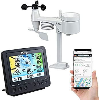 Logia 5-in-1 Wi-Fi Weather Station Indoor/Outdoor Remote Monitoring System