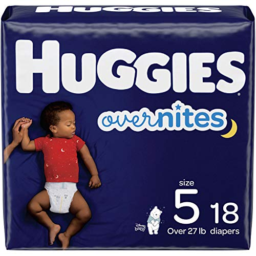 Nighttime Baby Diapers Size 5, 18 Ct, Huggies Overnites