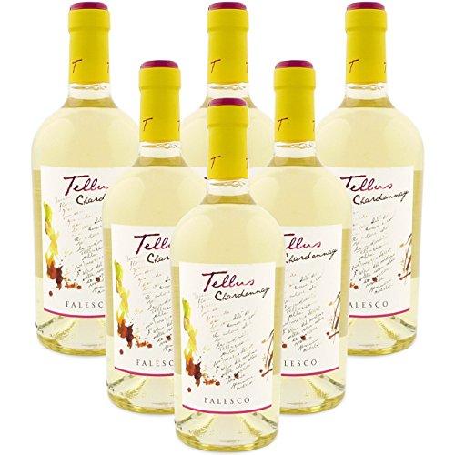 Vino Bianco TELLUS 2016 Chardonnay IGP Lazio Azienda Falesco Vini Italiani 6 bottiglie 75 cl.