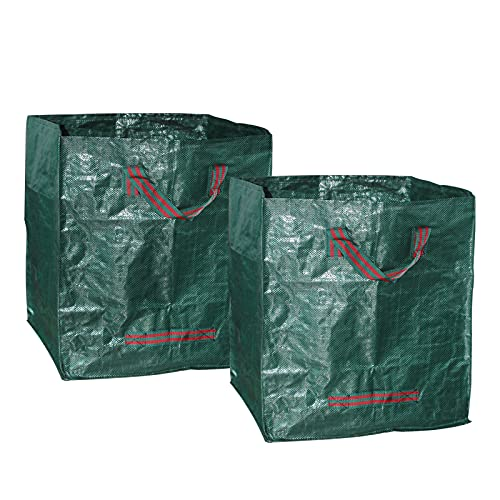 Yard Waste Container, 32 Gallon Reusable Large Gardening Trash Leaf Bags, for In The Garden Recycling Leaves and Weed in Lawn (2-Pack)