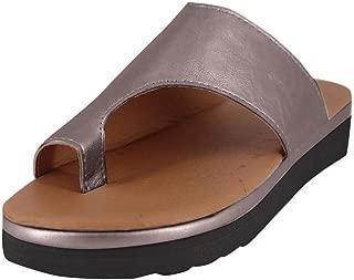 Sandals for Womens, FORUU Summer Casual Strap Roman Flat Clip Toe Shoes Slipper