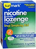 Sunmark Nicotine Polacrilex Lozenge 2 mg Mint - 72 ct, Pack of 2