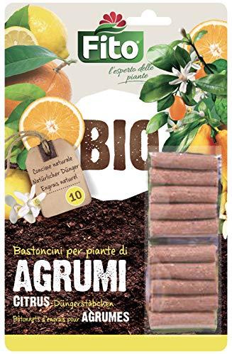 Fito X130101 Concime Organico in Bastoncini Pronto all'Uso per agrumi in Vaso, Verde
