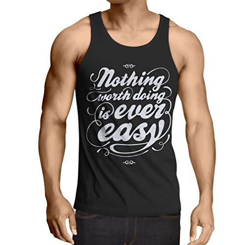 lepni.me Camisetas de Tirantes para Hombre Citas de motivación para la Vida - Vintage Inspirado Refranes Divertidos (Medium Negro Multicolor)