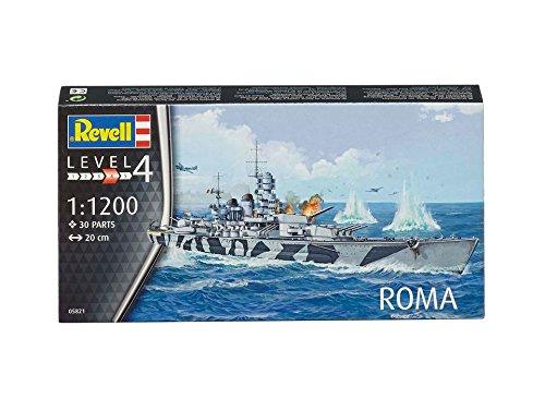 Revell Maqueta de Barco 1: 1200–Roma en Escala 1: 1200, Niveles 4, réplica exacta con Muchos Detalles, 05821