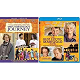Hundred Foot Journey / Best Exotic Marigold Hotel (2 Disc Blu Ray Set) - Starring: Helen Mirren, Om Puri, Tom Wilkinson, Bill Nighy, Manish Dayal (Director: Lasse Hallström, John Madden )