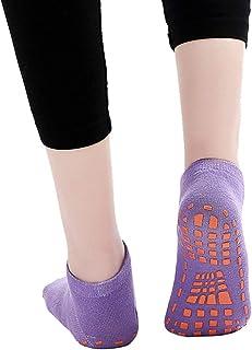 2Pcs Adult Children Cotton Anti-slip Trampoline Yoga Fitness Gym Ballet Socks