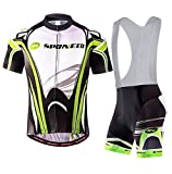 sponeed Bib Shorts Men Cycle Wear Cyclist Tights Bibs Leggings Asian XXXL/US XXL Green Multi