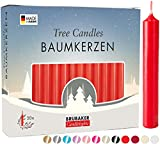 BRUBAKER 20 Confezioni di Candele per Albero Cera - Candele di Natale Candele Piramide Candele Dell'Albero di Natale - Rosso