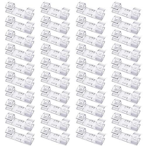 LOVEMIN Transparente Finisher Drahtklemmen, Starker Selbstklebender Kabelabfall-Drahthalter für Heim und BüRo (Klein,40pcs, Transparent)