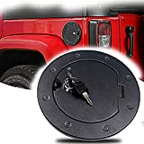 Micephon Locking Gas Tank Cap Fuel Filler Door Cover for Jeep Wrangler JK Unlimited Sport Rubicon Sahara 2007-2017...