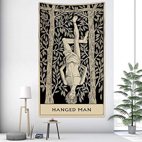 KHKJ Hechicero hechicero decoración del hogar Tapiz Hippie Mandala Tapiz Dormitorio decoración de la Pared sofá Manta Yoga colchón A8 95x73cm