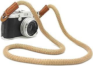 Correa de Hombro para Cámara y Videocámara Strap de Algodón Suave Ajustable al Hombro y Cuello para Cámaras DSLR Nikon Canon Sony Samsung Olymplus Fujifilm (100CM)