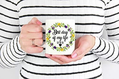 Taza con texto en inglés «From Miss to Mrs, Future Mrs, Bride to be Gift», taza de compromiso, regalo de compromiso, regalo de futuro Mrs, taza de café, 11 onzas, Navidad, Acción de Gracias, regalo de cumpleaños