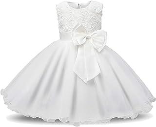 f3b629d8f4a61 Minetom Robe Filles Cérémonie Bébés Enfant Robes de Bal Mariage  Anniversaire Fête Dentelle Fleurs 3D Nœud
