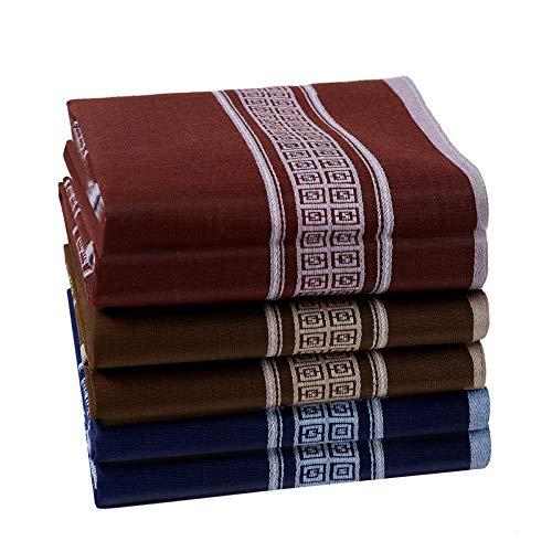 HOULIFE Pañuelos para hombre de algodón puro 60S, 40 x 40 cm, 3 colores, para uso diario, 6/12 unidades multicolor 40x40cm