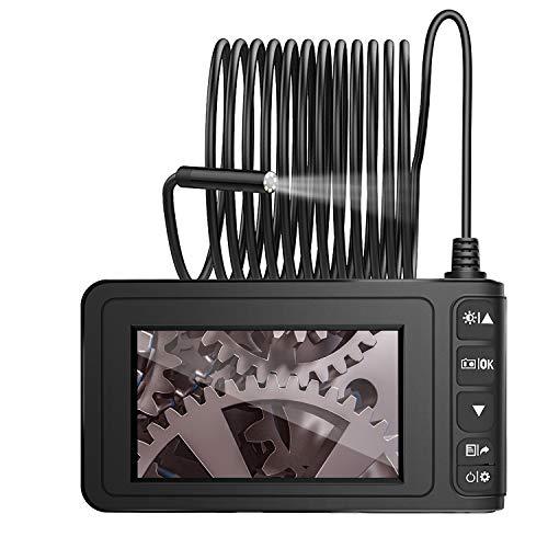"MoKo 4,3 Zoll Endoskopkamera, 1080P Full HD LCD Digitale Hand Industrie Endoskop 5M Halbsteife Snake Tube Wasserdicht Inspektionskamera Videoaufnahme Boreskop mit 1700mAh Batterie 1.6-198\"" Brennweite"