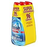 Finish Powergel, Gel Detersivo per Lavastoviglie Liquido, Multiazione, Brillantezza e Protezione, 96 Lavaggi, 3 Confezioni da 32 Lavaggi