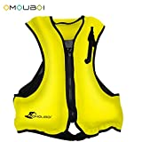OMOUBOI Life Jacket Snorkel Vest Adult Inflatable Swim Snorkel Vest for Snorkeling, Suitable for 80-220lbs