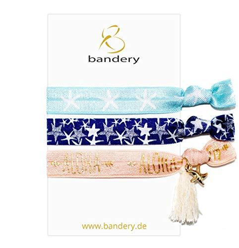 BANDERIES Soft Armband elastisch auch als Haargummi verwendbar (handmade), Trendiges Styling Produkt für JUNG und ALT (Banderies No. 18)