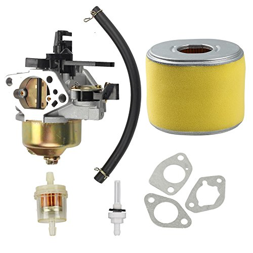 Harbot 16100-ZF6-V01 Carburetor with 17210-ZE3-505 Air Filter Gas Fuel Tank Joint Filter for Honda GX340 GX390 13HP 11HP 16100-ZF6-V00 Lawnmower Water Pumps