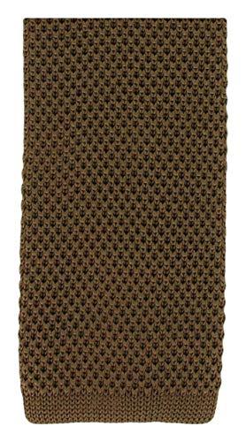 Une cravate étroite en soie tricotée marron Michelsons