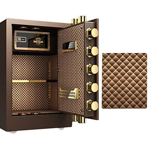 Cassaforte YXX Cassetta di Sicurezza Casseforti per Armadietti di Grandi Dimensioni Colore del caffè, attività Commerciale Sicurezza con Cassetto Nascosto E Ripiano Rimovibile, A Prova