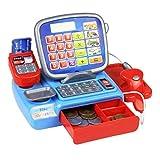 con Caja registradora escáner Escala de pesaje electrónico de Kid Calculadora Juego Real Juguete de múltiples Funciones del Juguete para Cabrito