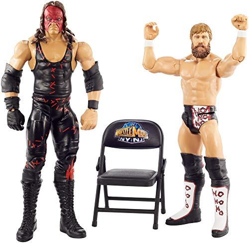 WWE GKY66 - WrestleMania 2er-Pack Figuren (15 cm) Kane & Daniel Bryan, Spielzeug Actionfiguren ab 6 Jahren