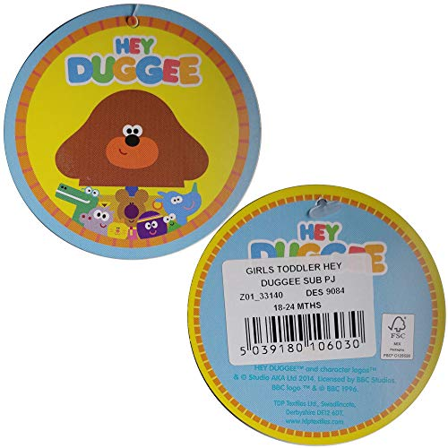 Girls Hey Duggee Pyjamas Children Hey Duggee Sleepwear Age 18 Months to 5 Years (3-4 Years) Purple
