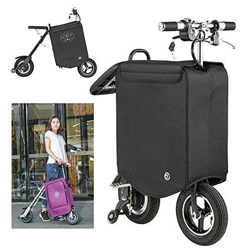 Zdcdy Smart Electric Scooter Trolley Case Skateboard Reisekoffer, Tragbare Smart Riding Scooter, Smart Riding Scooter Suitcase, Für School Airport Business,70km
