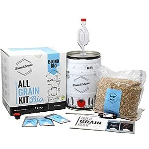 BNKR BEER | Brew&Share | Kit para Hacer Cerveza Blond Bio con Certificado Ecológico | Tu Cerveza en 2 semanas. Elaboración con maltas. Fermentación en Barril.