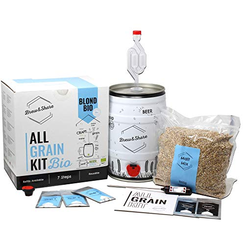 Brew & Share | Kit de bière Blond Bio. Certificat...