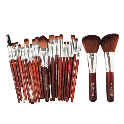 Hexiaoyi Professional Makeup Brush Set Tools Make-up Toiletry Kit Nylon Cosmetic Brush Eye Makeup 22 In 1 (Color : Red-02)