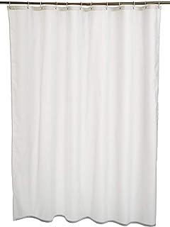 AmazonBasics - Cortina de ducha de poliéster (180 x 200 cm) color blanco