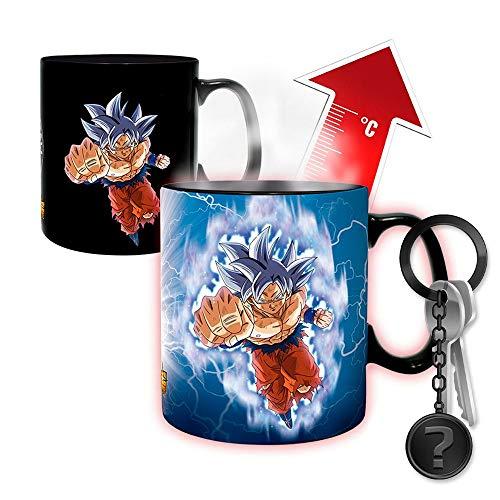 Dragon Ball - Goku vs Jiren - XXL Farbwechsel-Tasse | SET inkl. Schlüsselanhänger