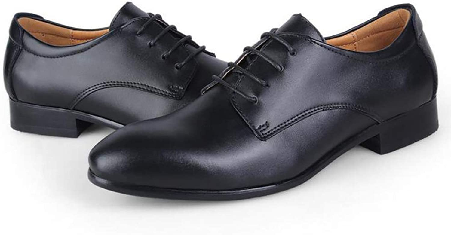 Men's Business shoes Spring and Autumn New Business Dress shoes Casual shoes Single shoes Lace up (color   A, Size   47)